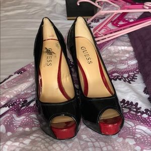 Guess Red and Black Pumps